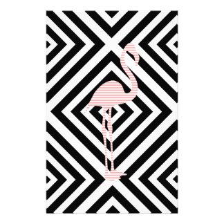 Papelaria Flamingo - teste padrão geométrico abstrato - rosa