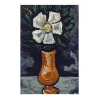 Papelaria Flor branca - Marsden Hartley