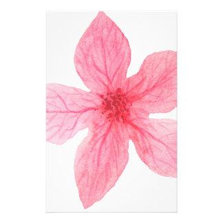 Papelaria flor cor-de-rosa da aguarela