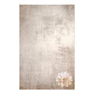 Papelaria Flor de Lotus cor-de-rosa de papel velha dos