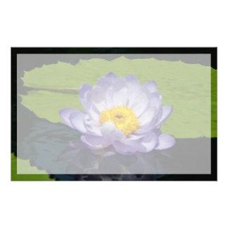 Papelaria Flor de Lotus de azuis cobaltos Waterlily