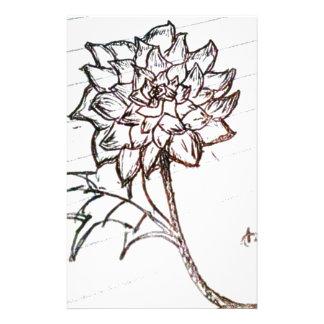 Papelaria flor dos rosas brancos