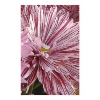 Papelaria Flor listrada cor-de-rosa