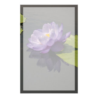 Papelaria Flor roxa azul de Lotus Waterlily