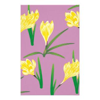 Papelaria Flores amarelas do açafrão