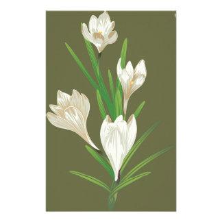 Papelaria Flores brancas 2 do açafrão