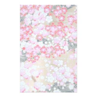 Papelaria Flores cor-de-rosa, brancas & vermelhas