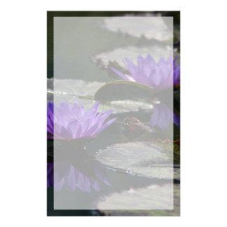 Papelaria Flores de Lotus de azuis cobaltos Waterlily