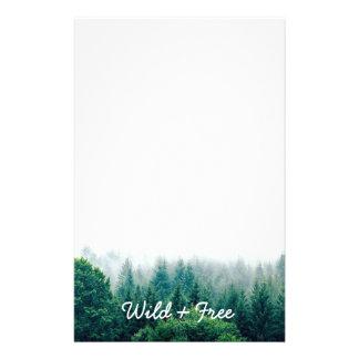 Papelaria Floresta verde bonito selvagem e livre