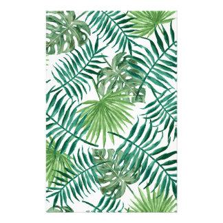 Papelaria Folha de palmeira botânica tropical da planta