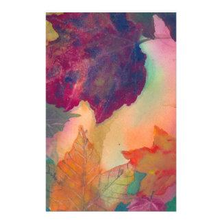 Papelaria Folhas da queda ao longo da costa no papel de