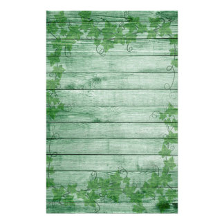 Papelaria Folhas e madeira