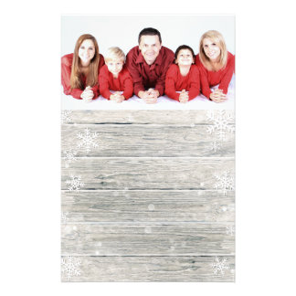 Papelaria Foto de madeira rústica do Feliz Natal - artigos