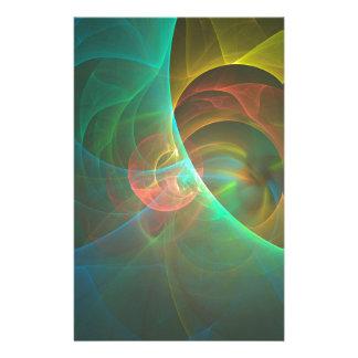 Papelaria Fractal abstrato colorido