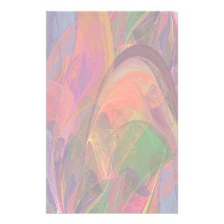 Papelaria Fractal da flor do arco-íris