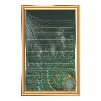 Papelaria Fractals elegantes extravagantes com padrões legal