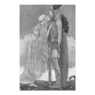 Papelaria Freja e Svipdag por John Bauer