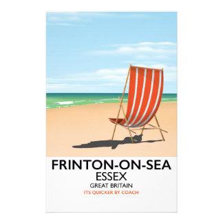 Papelaria Frinton-em-Mar, Essex, cartaz do beira-mar