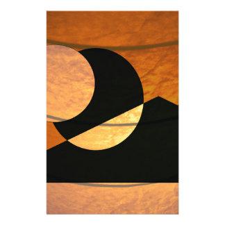 Papelaria Fulgor dos planetas, preto e cobre, design gráfico
