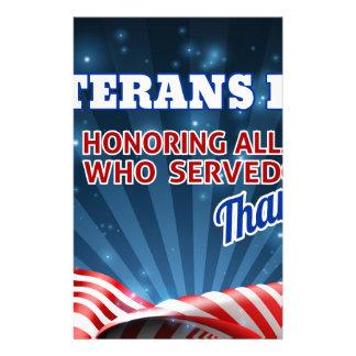 Papelaria Fundo da bandeira americana de dia de veteranos
