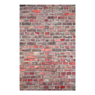 Papelaria fundo da parede de tijolo - pedra vermelha do