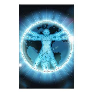 Papelaria Fundo do globo do mundo da terra do homem de