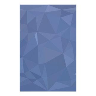 Papelaria Fundo do polígono do abstrato do azul de aço baixo