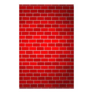 Papelaria Fundo do tijolo vermelho w/Spotlight