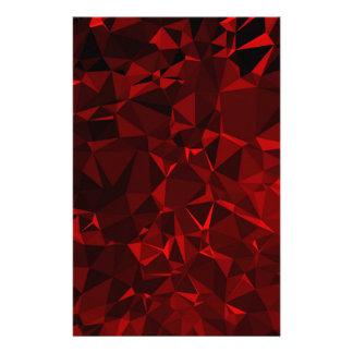 Papelaria Fundo poligonal vermelho