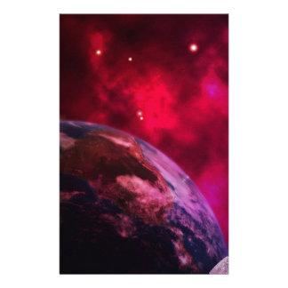 Papelaria Galáxia roxa 2 - purple galaxy
