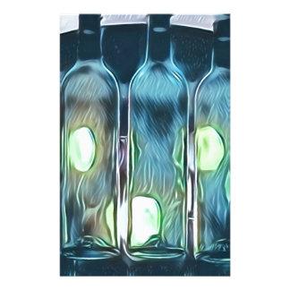 Papelaria Garrafas de vinho artísticas chiques elegantes