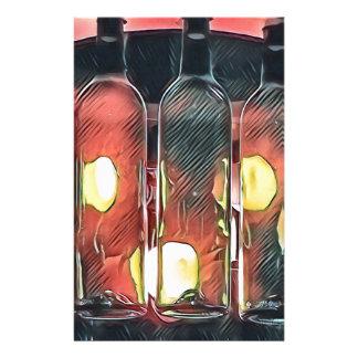Papelaria Garrafas de vinho artísticas da canela cor-de-rosa