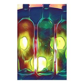 Papelaria Garrafas de vinho artísticas da Multi-Cor Funky