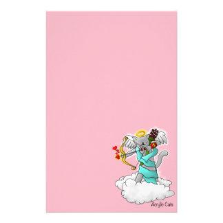 Papelaria Gato cinzento do Cupido de Smokey do dia dos