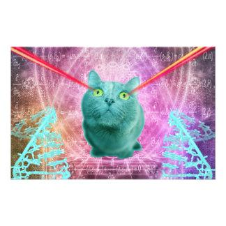 Papelaria Gato com olhos do laser