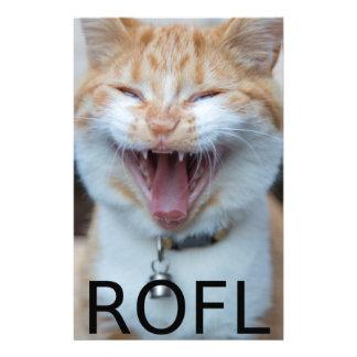 Papelaria Gato de riso do gatinho de ROFL
