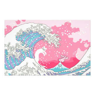 Papelaria Gato do surfista de Psychodelic Bubblegum Kunagawa