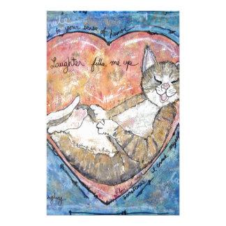Papelaria Gato feliz do coração