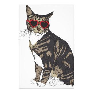 Papelaria Gato que veste vidros do coração