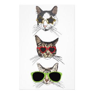 Papelaria Gatos que vestem óculos de sol