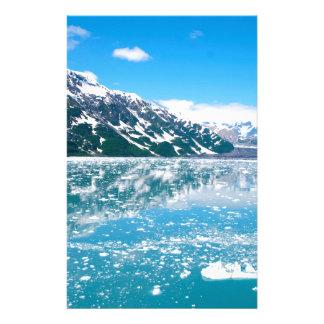Papelaria Gelo azul abstrato Alaska da paisagem das