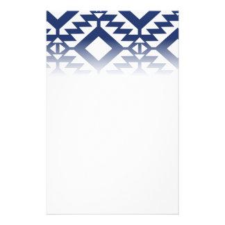 Papelaria Geométrico azul e branco tribal