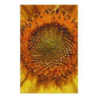 Papelaria Girassol e sementes no estilo de Van Gogh