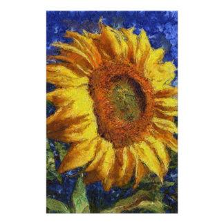 Papelaria Girassol no estilo de Van Gogh
