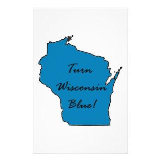 Papelaria Gire Wisconsin azul! Orgulho Democrática!