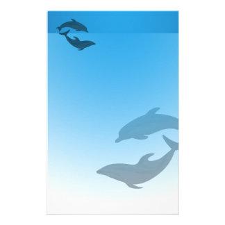 Papelaria Golfinhos do azul de oceano estacionários