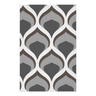 Papelaria gotas geométricas cinzentas