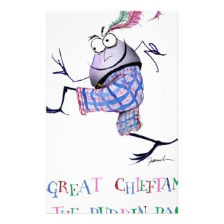 Papelaria grande puddin-raça chieftan do o'the