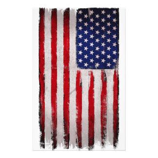 Papelaria Grunge da bandeira dos EUA