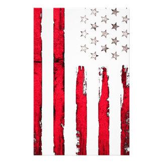 Papelaria Grunge vermelho novo da bandeira americana